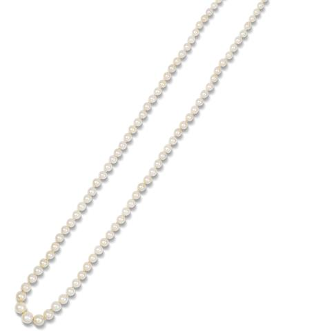 A single-row pearl necklace,