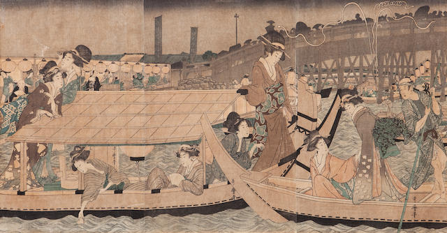 Utamaro, (1753-1806) a Woodblock print