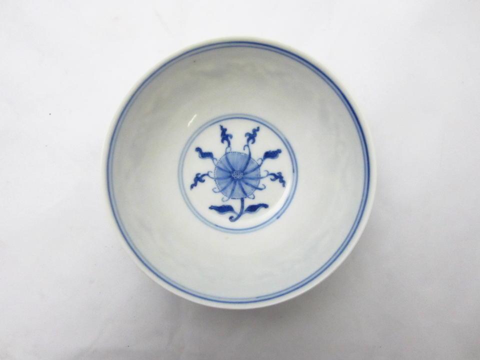 A pair of blue and white tea bowls Bearing 'qing hua zhen pin' [Precious object of pure splendour] mark