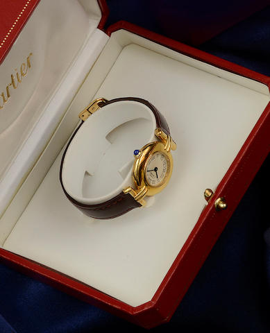 Must de Cartier: A lady's silver-gilt wristwatch