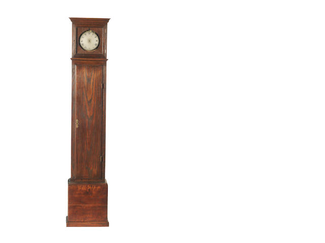 A good mid 19th century floorstanding night watchman's timepiece  Yonge & Son, Strand, London.  The frontplate stamped 'T&R' for Thwaites and Reed, number 9000