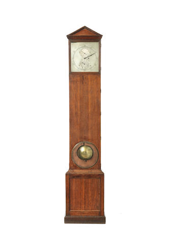 A rare dated floorstanding oak regulator in architectural case  G. Pearne, London, 1830