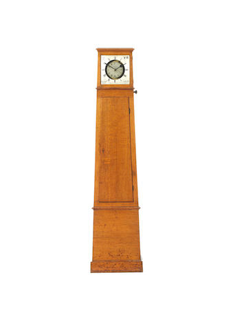 A fine and rare third quarter of the 19th century oak watchman's timepiece Dutton & Co, London, date 1868.