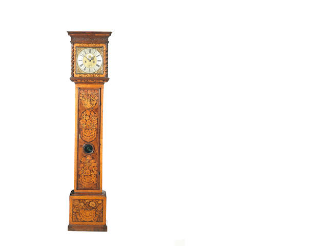 A good late 17th century walnut marquetry cased longcase clock Matthew Bunce, London