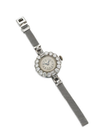 A lady's diamond cocktail wristwatch