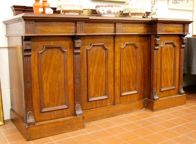 A Victorian mahogany pedestal sideboard,