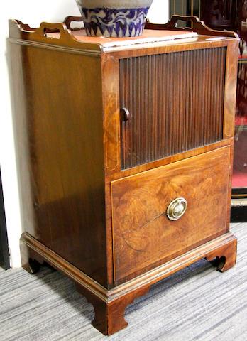 An early 19th Century mahogany night commode,