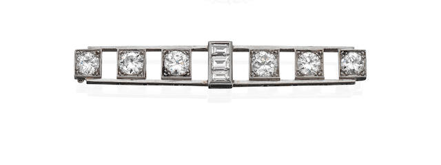 An early 20th century diamond brooch