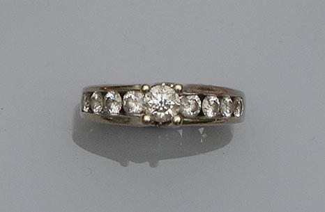 A diamond set dress ring