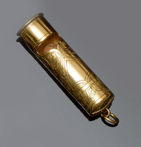A gentleman's vesta case/whistle