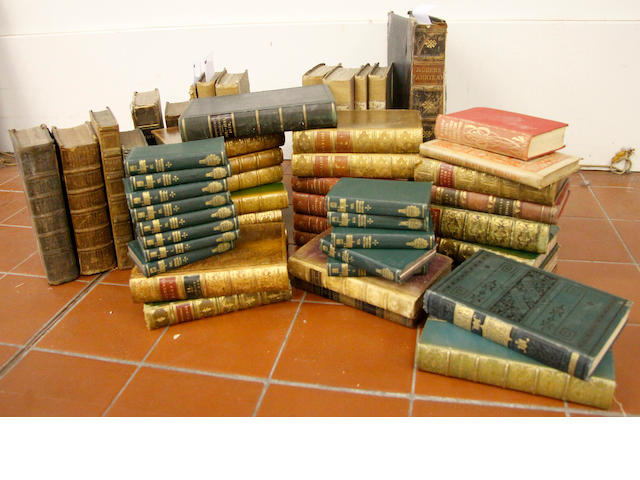Bindings: a quantity of mainly 19th Century volumes,