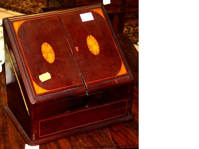 A Victorian mahogany stationary cabinet,