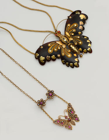 Two butterfly pendants (2)