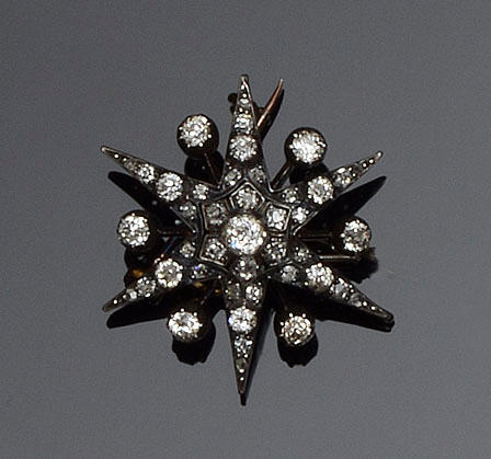 A Victorian diamond star brooch/pendant