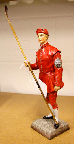 A Sitzendorf figure 'Waterman Doggett Winner'