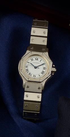 Cartier: A lady's Santos wristwatch