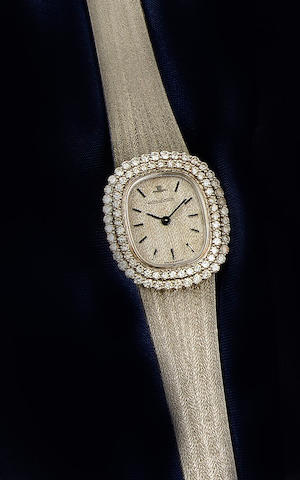 Jaeger Le-Coultre: An 18ct white gold diamond set lady's wristwatch