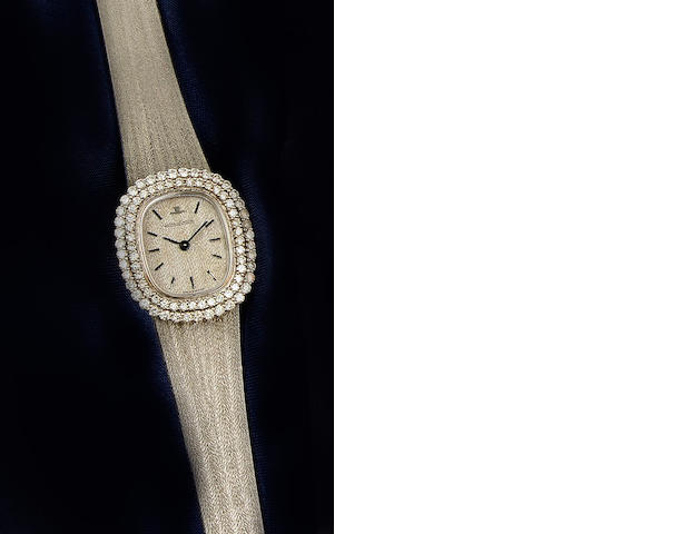 Jaeger Le-Coultre: An 18ct white gold diamond set lady's wristwatch