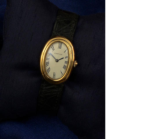 Cartier: A lady's Baignoire wristwatch