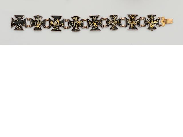 A 'Shakudo' bracelet