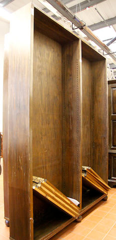 Two stained pine bookcases 20th Century