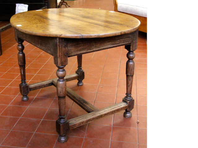 An oak table 18th Century and later