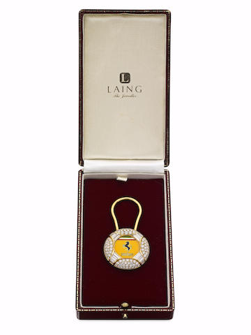 A diamond key ring for Ferrari, London 2001