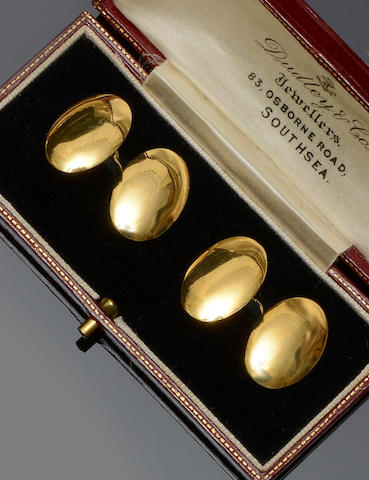 A pair of 18ct gold cufflinks