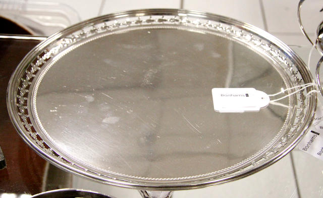 An Edward VII salver,