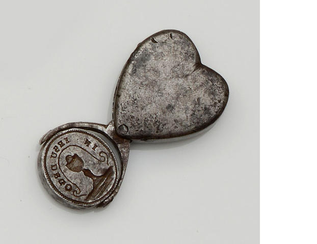An 18th century steel fob seal