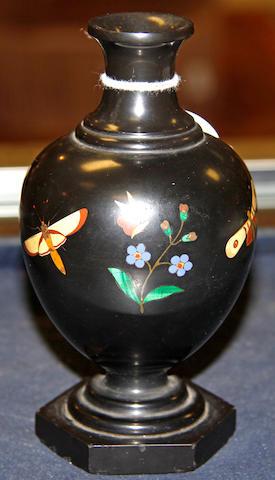A Victorian Ashburton slate baluster vase,