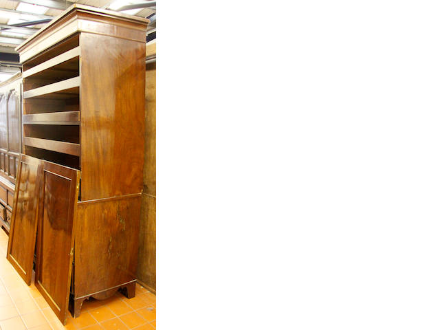 A 19th Century mahogany linen press,