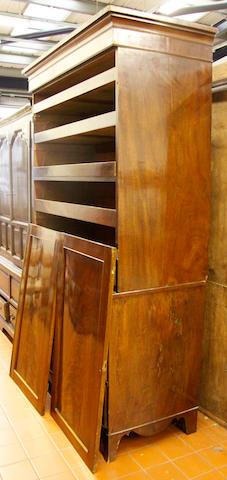 A 19th Century mahogany linen press,