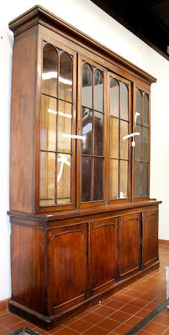 A Victorian mahogany library bookcase,