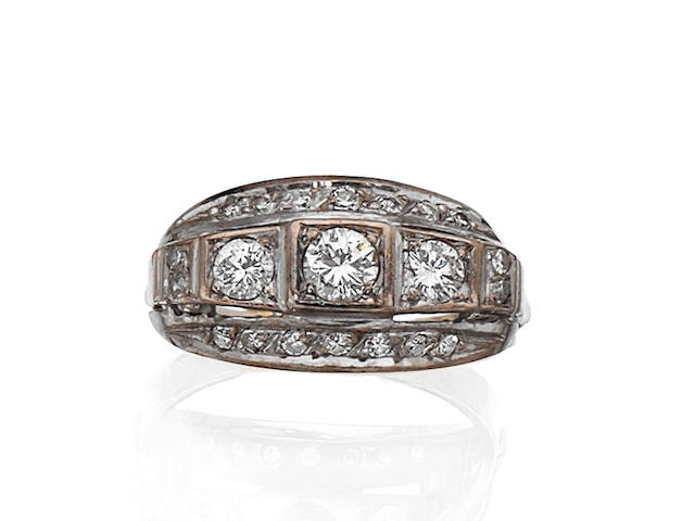 A diamond dress ring