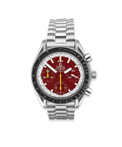 A gentleman's 'Speedmaster Schumacher' chronograph wristwatch, by Omega