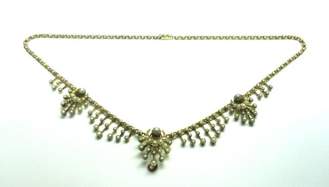 A late Victorian seed pearl necklace