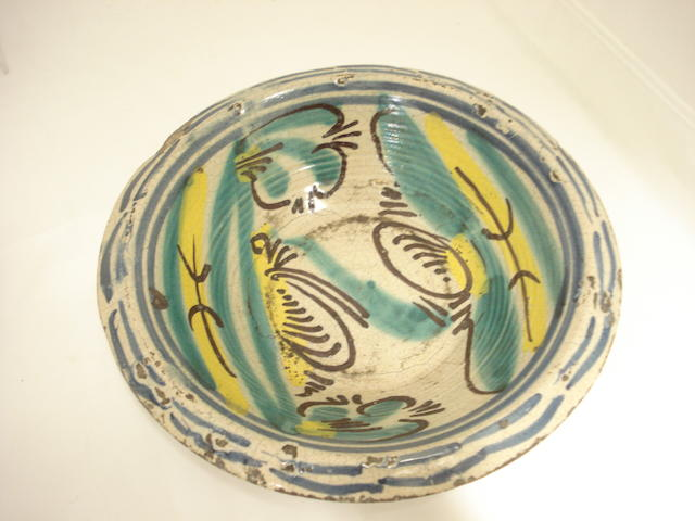 A Talavera tin glaze bowl Probably 18th century