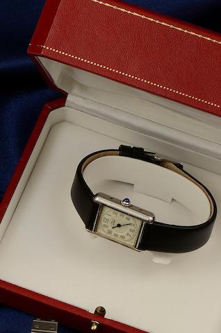 Must de Cartier: A lady's silver Tank wristwatch