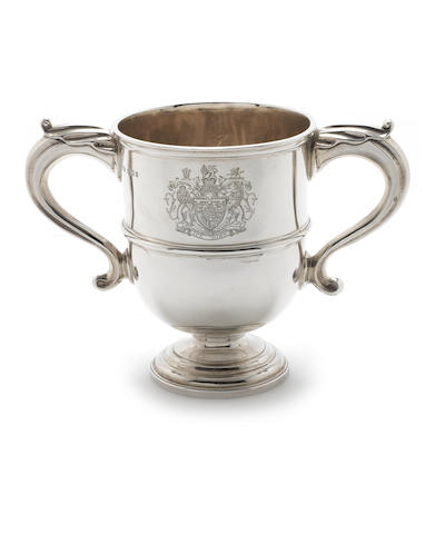 A  silver two handled cup by Lionel Alfred Crichton, London 1919