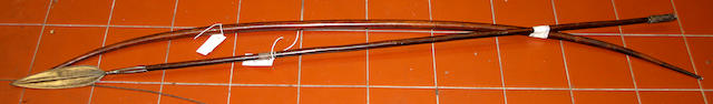 A tribal spear and bow, 3