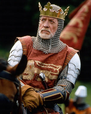 Braveheart: A burgandy-red tunic made for Patrick McGoohan as King Edward I, 1995,