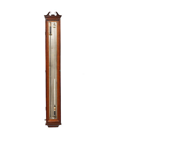 A fine dated mahogany 'double barometer' Knie, Edinburgh, dated 1801