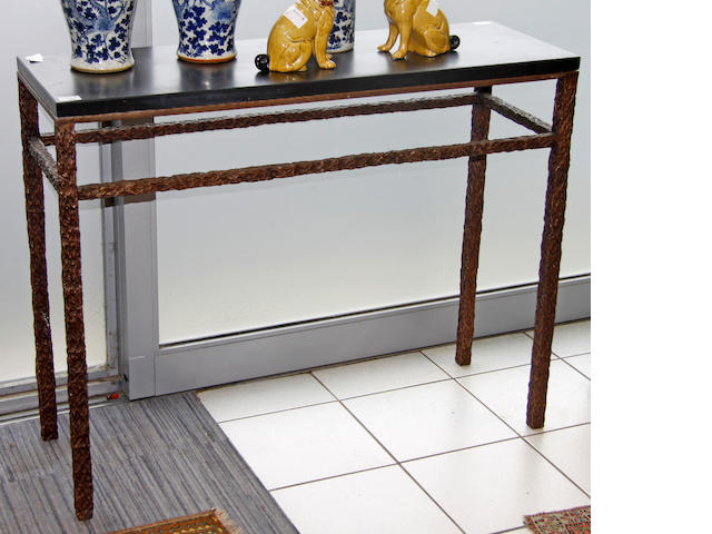 A modern side or console table,