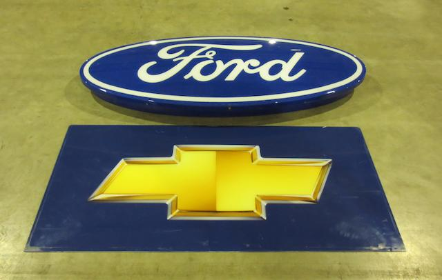 A Ford illuminating showroom sign,