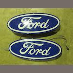 Two Ford illuminating showroom signs,