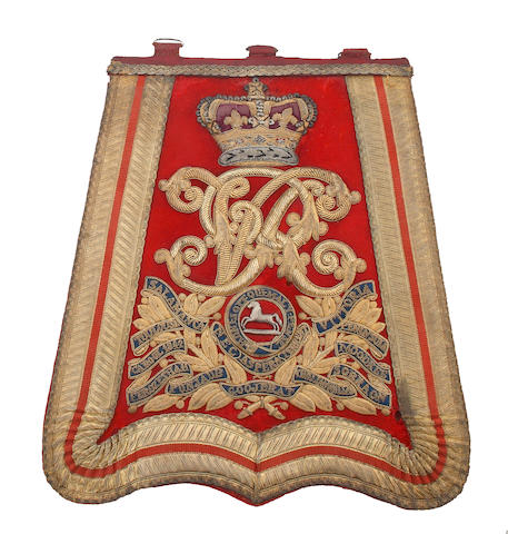 3rd (King's Own) Hussars Officer's Full Dress Sabretache 1861 - 1901