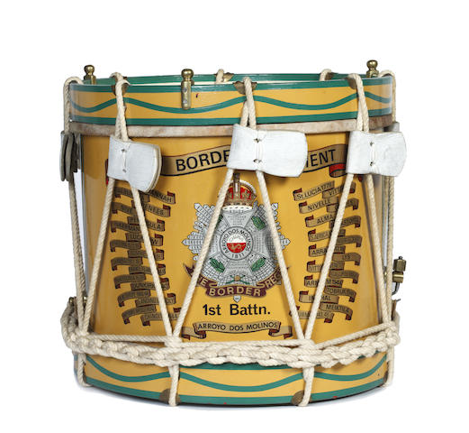 1st Battalion The Border Regiment a Side Drum with Honours to 1945