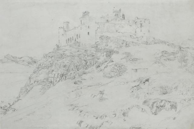 Cornelius Varley (British, 1781-1873) Harlech Castle
