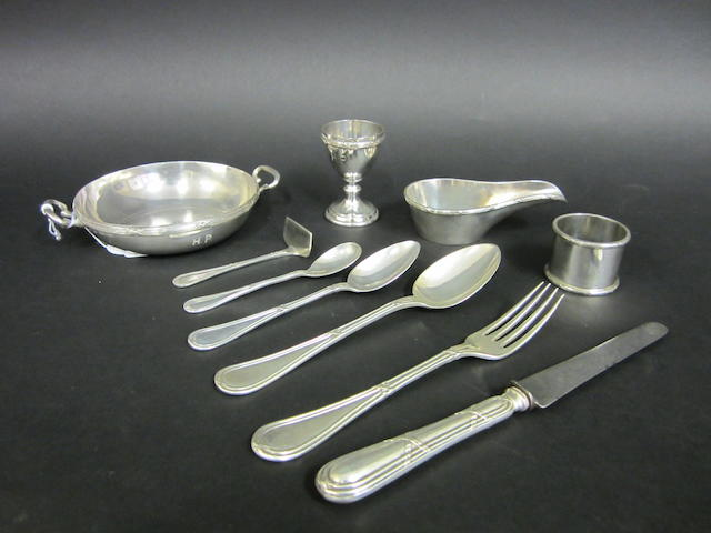 An Austrian silver christening set Vienna, 1872-1922, 800 standard, RS, HD, Schwarz and Steiner